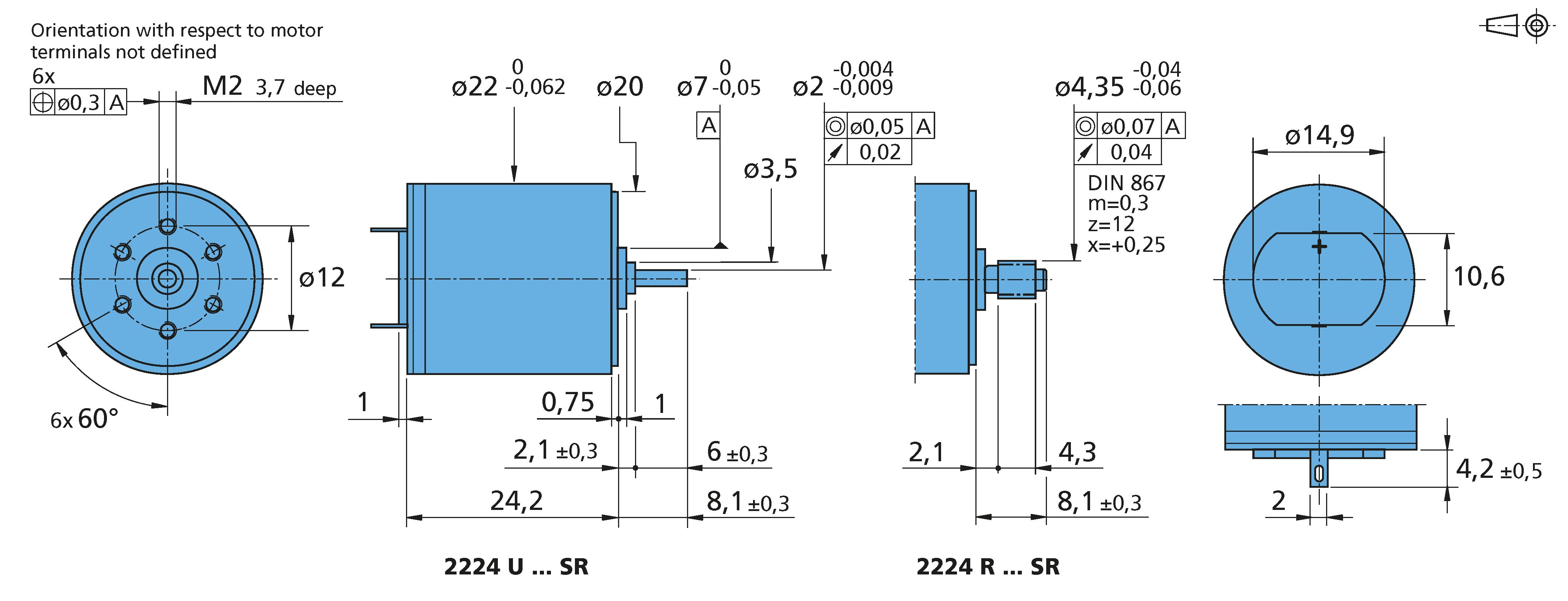 DC-Micromotors 2224...SR