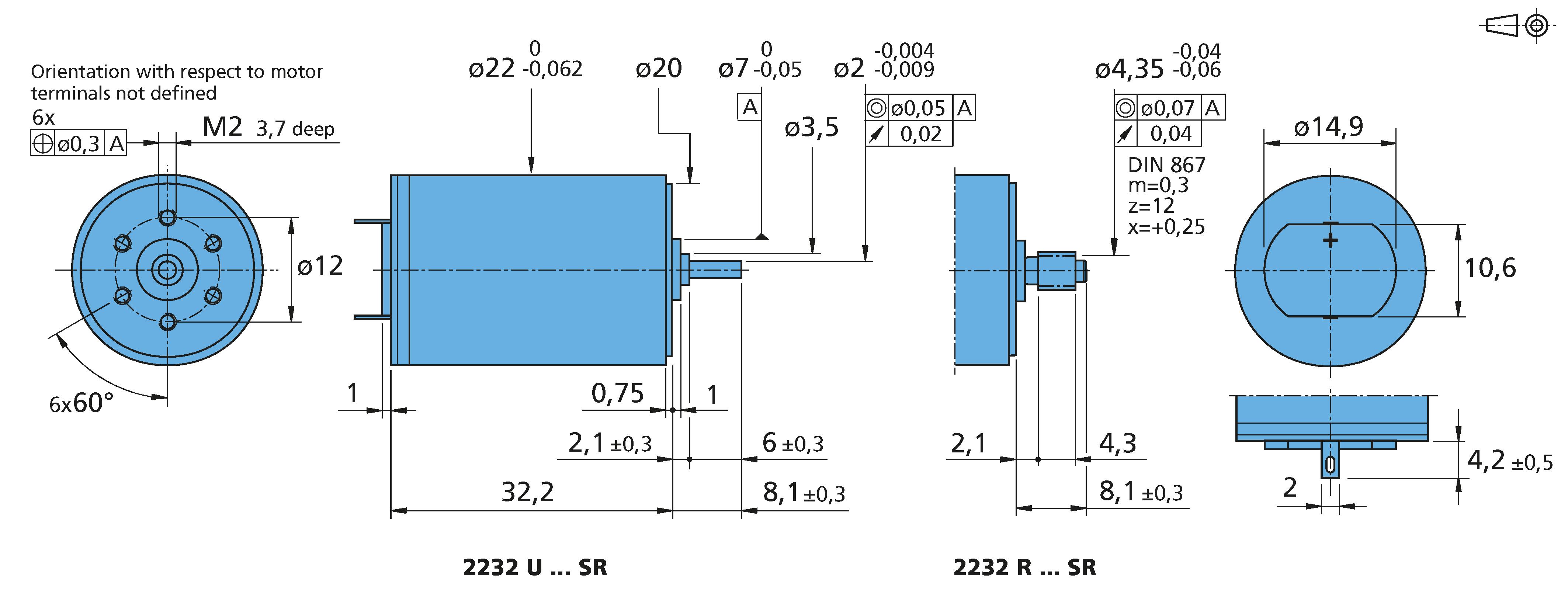 DC-Micromotors 2232...SR