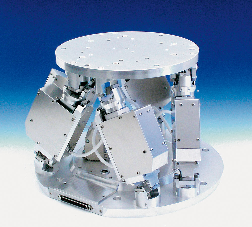 """This hexapod system operates with """"folded"""" drives and is of a very ..."""